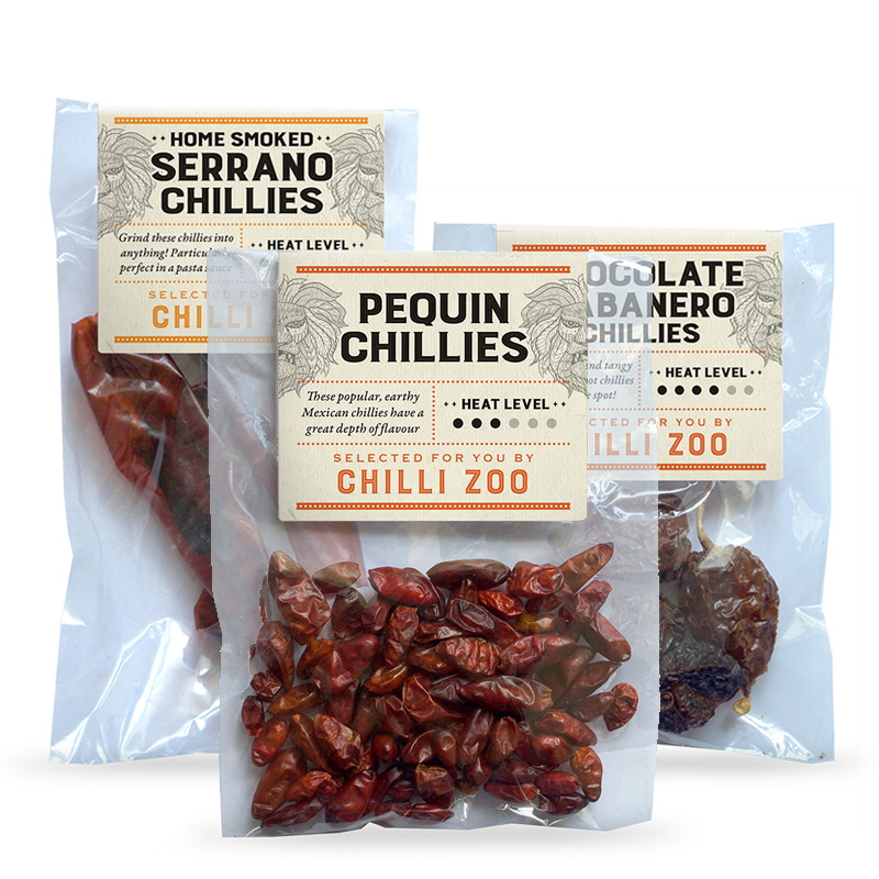 Bags of Chilli Zoo Dried Chillies