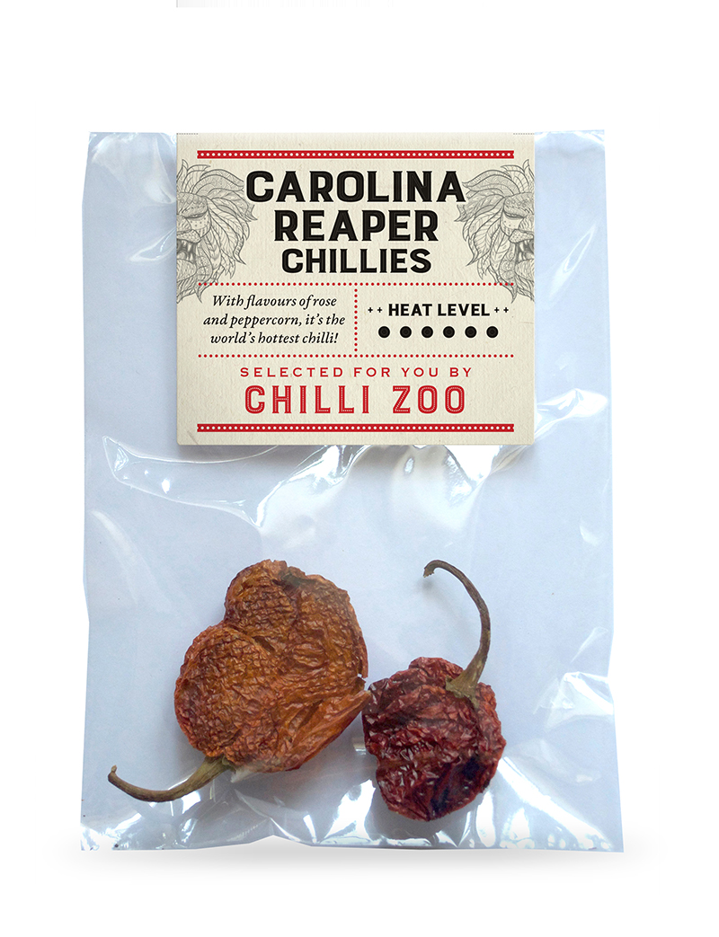 Dried Carolina Reaper chillies