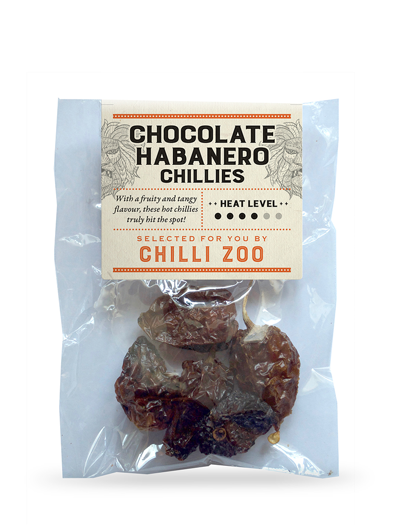 Dried Chocolate Habanero chillies