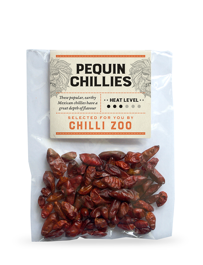 Dried Pequin chillies