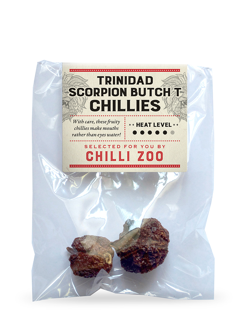 Dried Trinidad Scorpion Butch T chillies